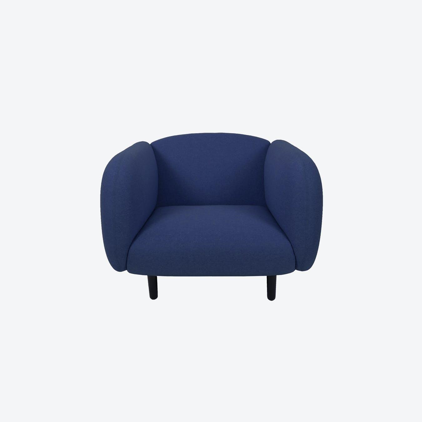 Fabric Moira Armchair - Blue