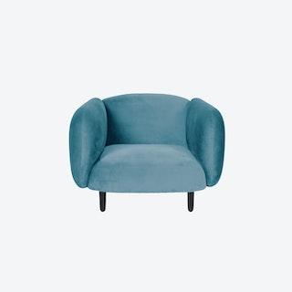 Velvet Moira Armchair - Sky Blue