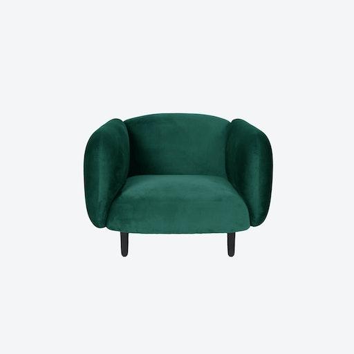 Velvet Moira Armchair - Teal Green