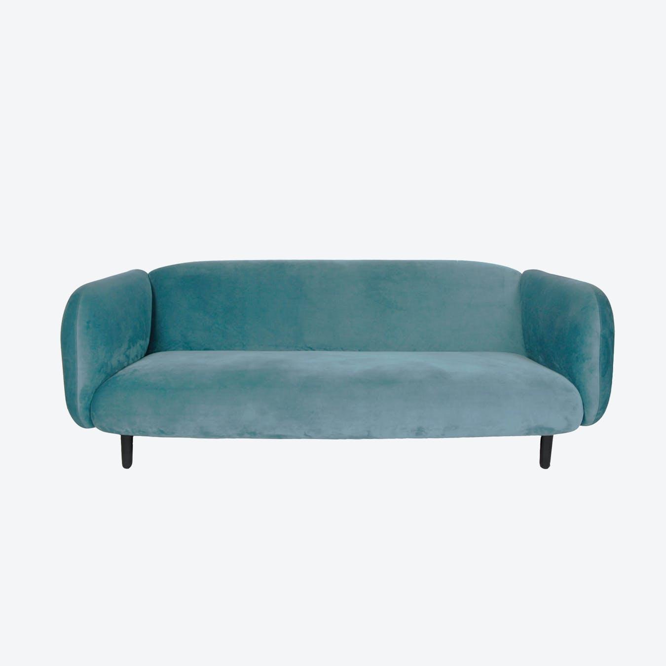 Velvet Moira Sofa - Sky Blue