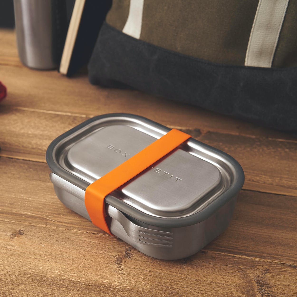 Stainless Steel Lunch Box - Orange