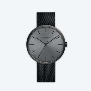 M38 PVD Black with Black Dial and Stainless Steel Milanese Mesh Strap