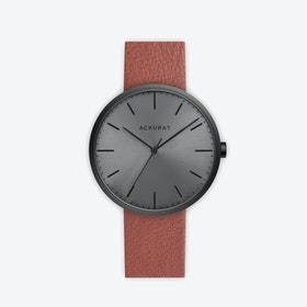 M38 PVD Black with Black Dial and Tan Leather Strap