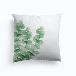 Watercolor Eucalyptus Leaves Cushion