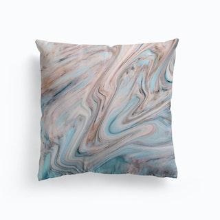 Brown Blue Marble Cushion