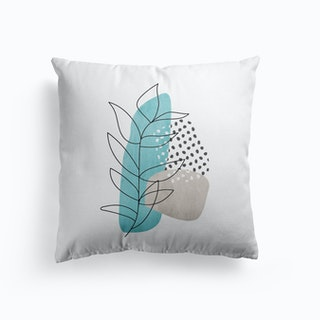 Abstract Leaf Line Drawing Cushion