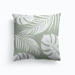 Palm Monstera Leaves Cushion