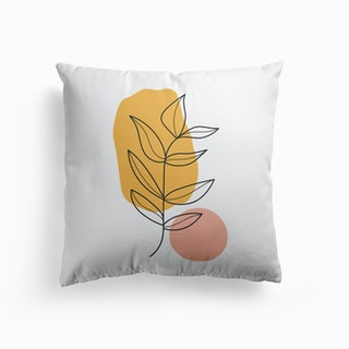 Abstract Leaves Cushion