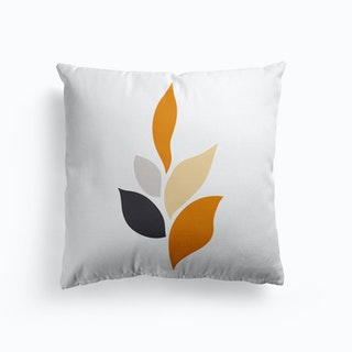 Modern Abstract Leaves Cushion
