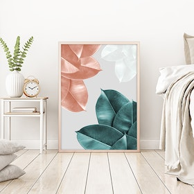Blush Leaves Art Print