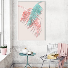 Watercolor Palm Leaves Art Print