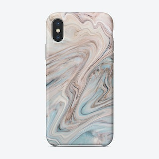 Brown Blue Marble Phone Case