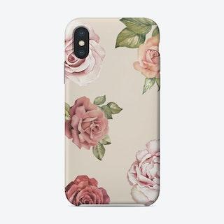 Vintage Rose Watercolor Phone Case