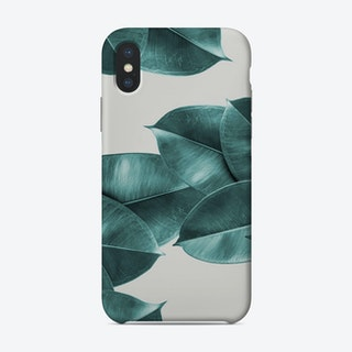 Green Ficus Leaves Phone Case