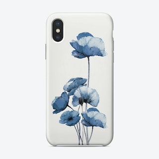 Blue Poppies Phone Case