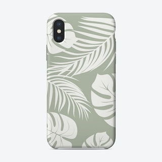 Palm Monstera Leaves Phone Case