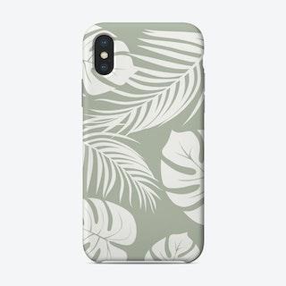 Palm Monstera Leaves Phone Case