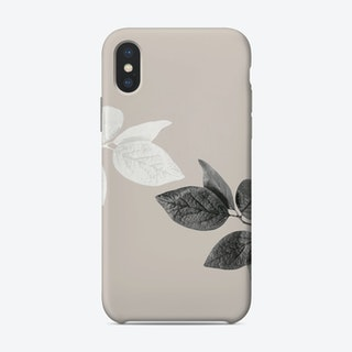 Black And White Leaves Phone Case