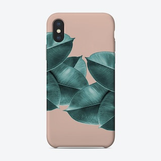 Green Blush Ficus Leaves Phone Case
