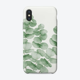 Watercolor Eucalyptus Leaves Phone Case