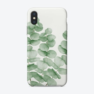 Watercolor Eucalyptus Leaves Phone Case