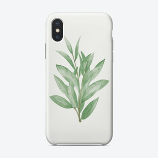 Watercolor Green Leaves Phone Case