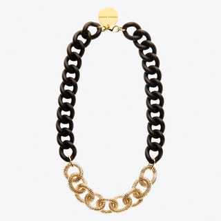 Teaser Necklace in Brown Matte