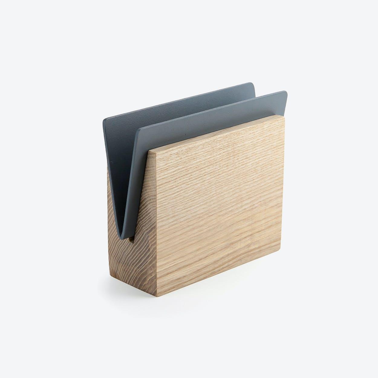 Napkin Holder I Envelope in Grey