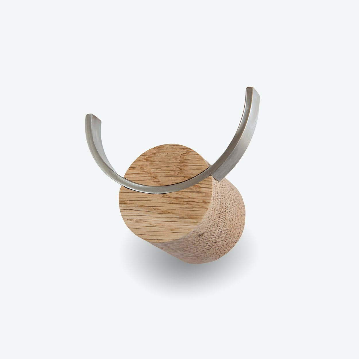 Deer Hook I Deer in Oak Wood/Natural (Ø:4cm)