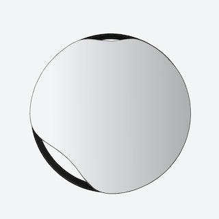 Black Puddle Wall Mirror - Ø 50 cm