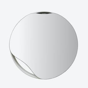 White Puddle Wall Mirror - Ø 50 cm
