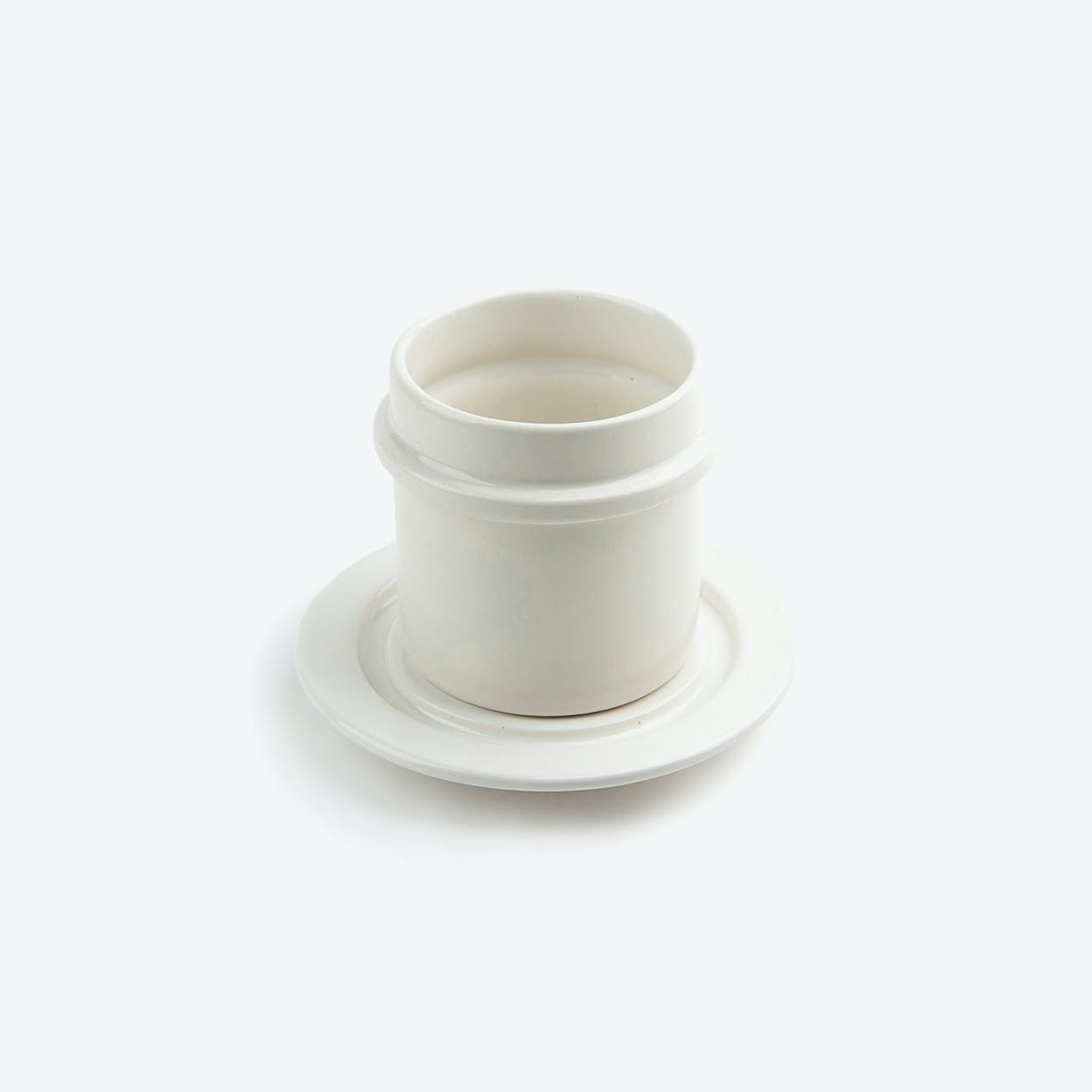 Cup & Saucer in White