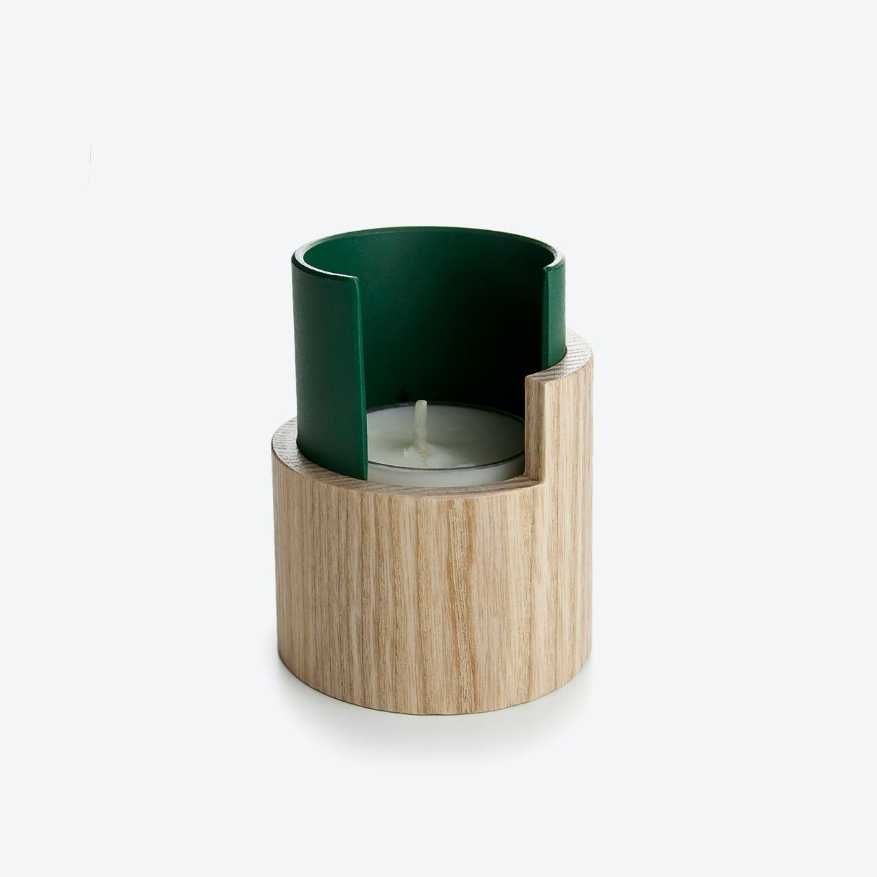 Candle Holder I Eclipse in Deep Green