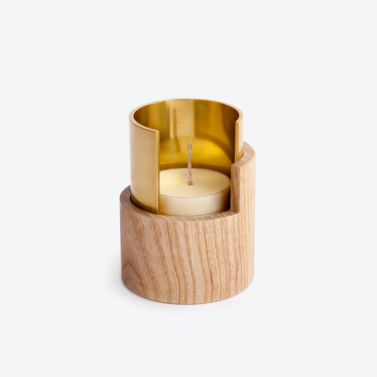 Candle Holder I Eclipse in Brass