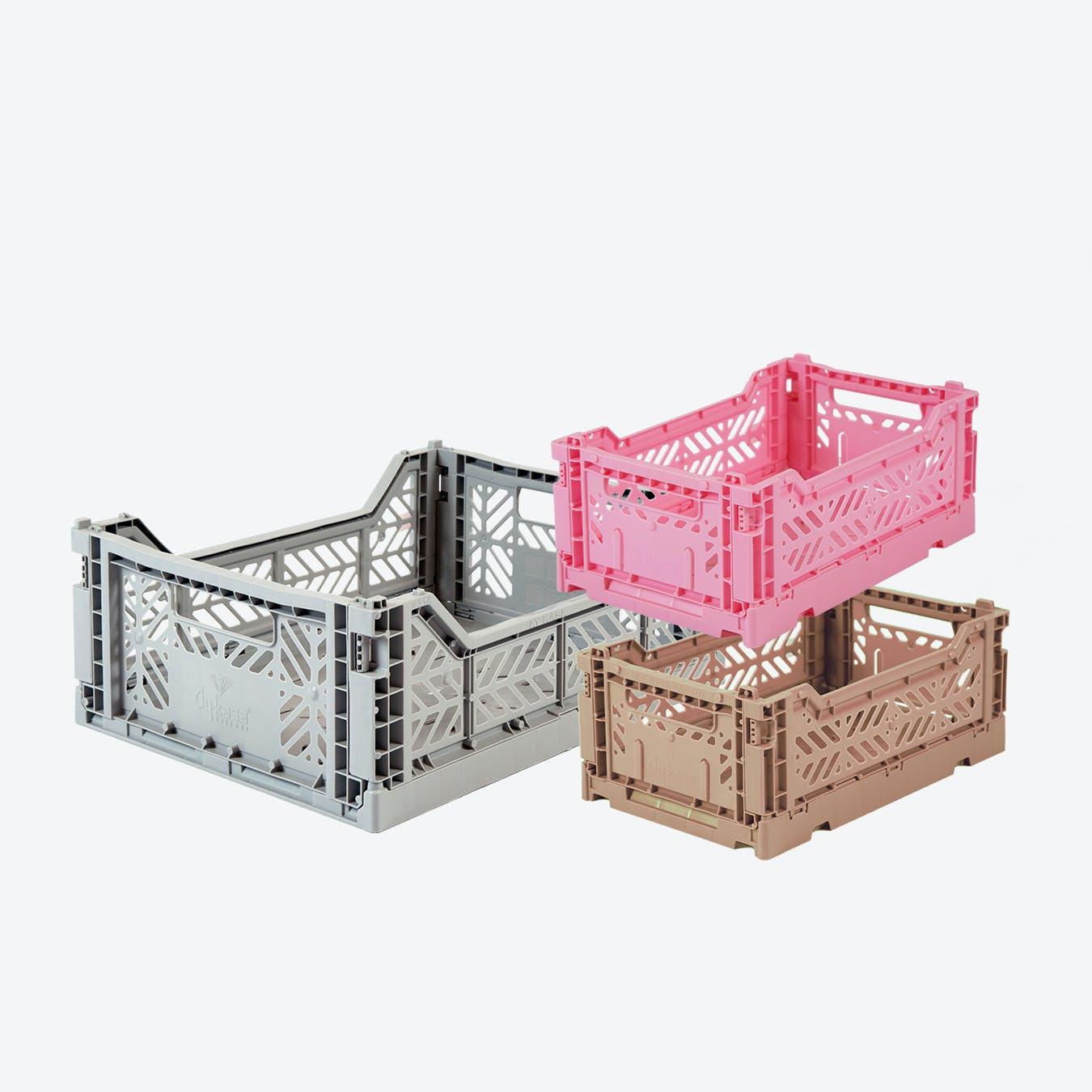 Mini in Warm Taupe & Mini in Baby Pink & Midi in Grey