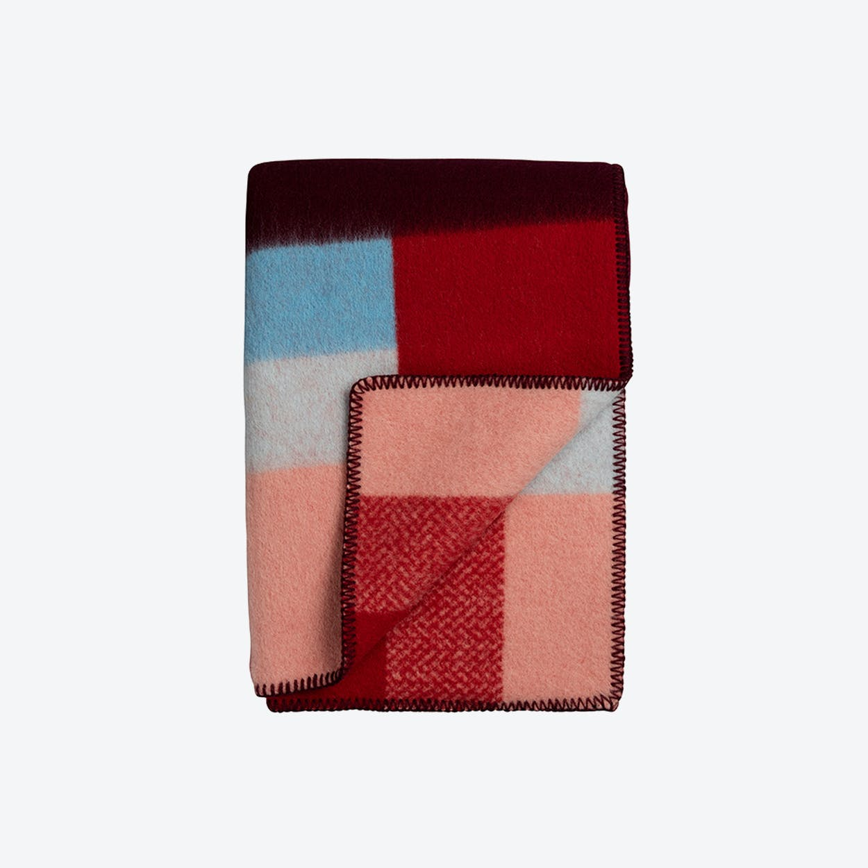 Mikkel Lambswool Throw in Red