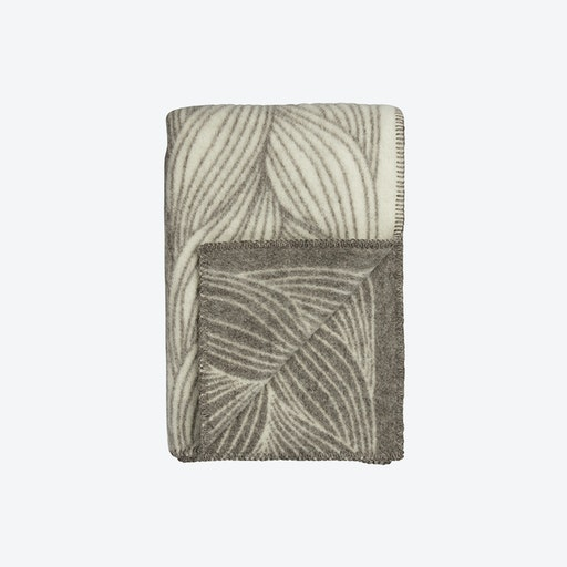 Naturpledd Flette Lambswool Throw in Natural/Grey