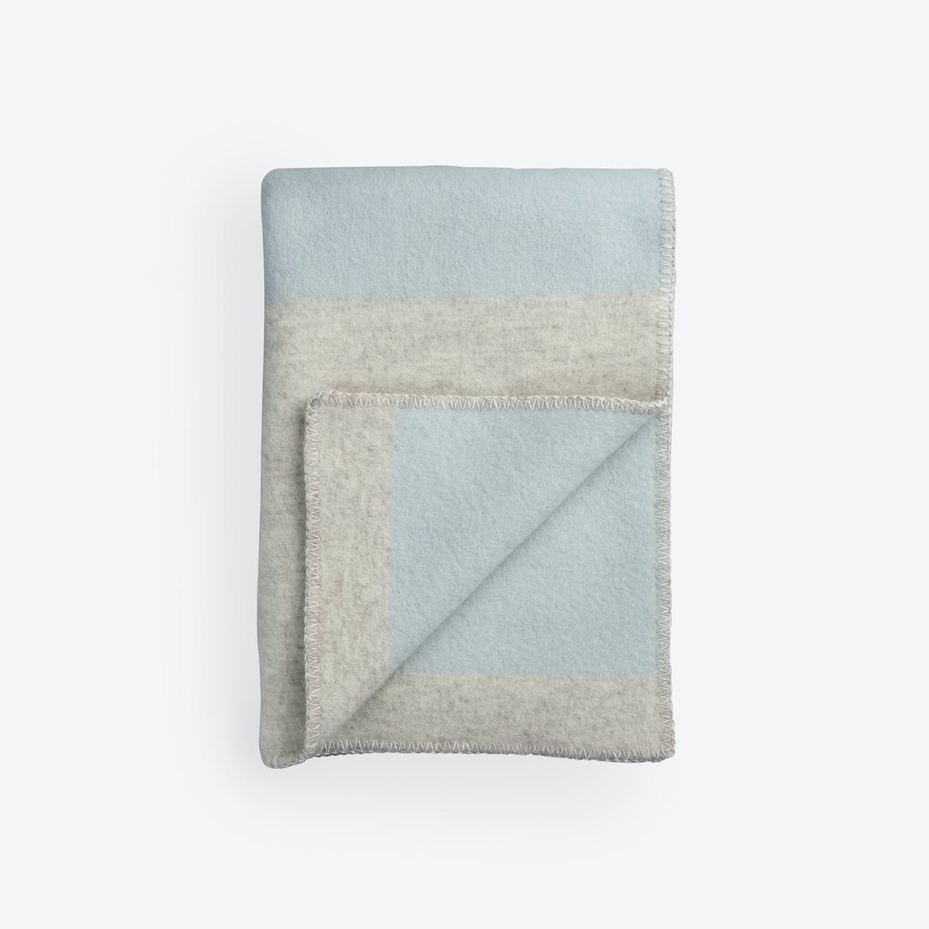 Bergstaden Lambswool Throw in Grey/Blue