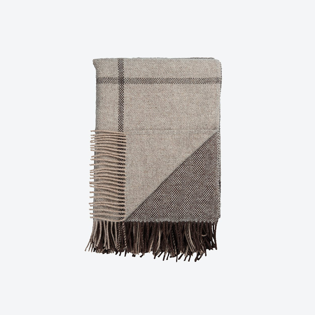Filos Lambswool Throw in Grey
