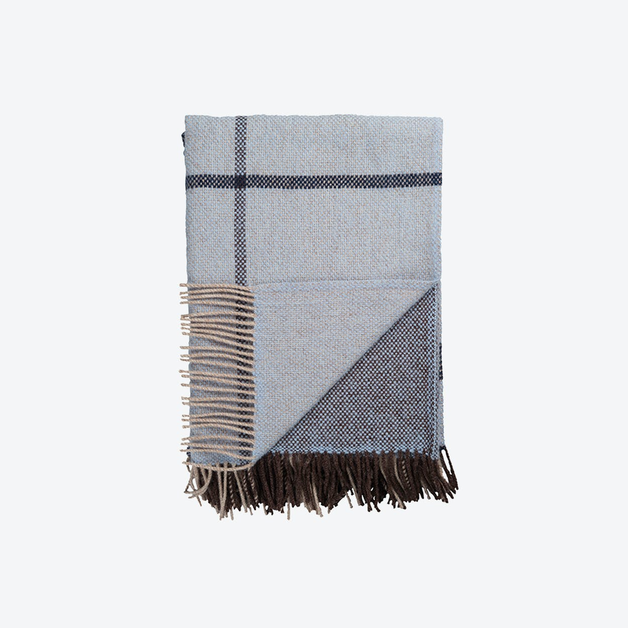 Filos Lambswool Throw in Blue