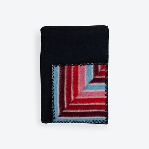 Konfetti Lambswool Rug in Blue/Red