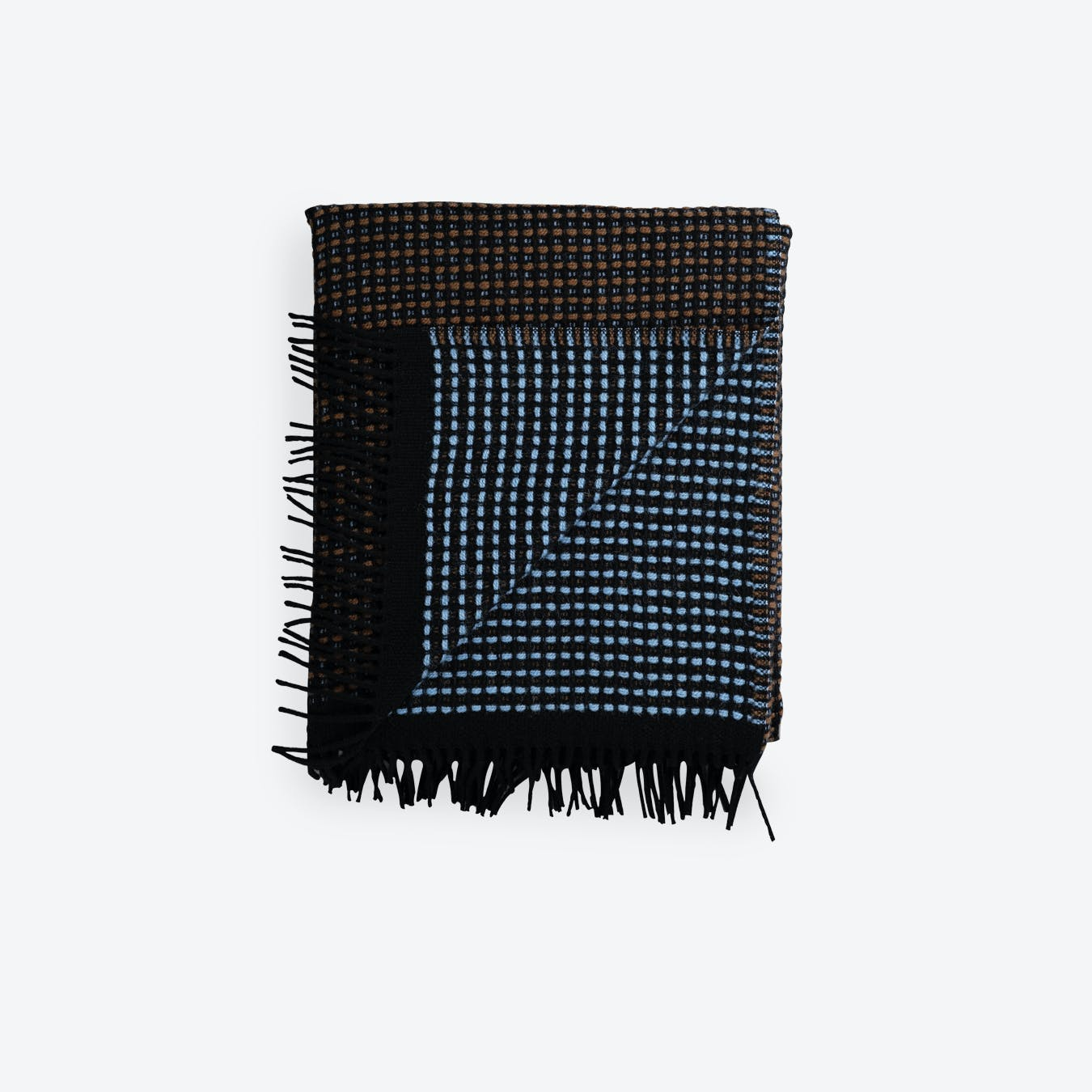 Lofoten Lambswool Rug in Blue/Mule