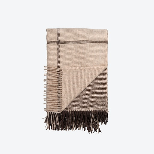 Filos Lambswool Throw in Brown