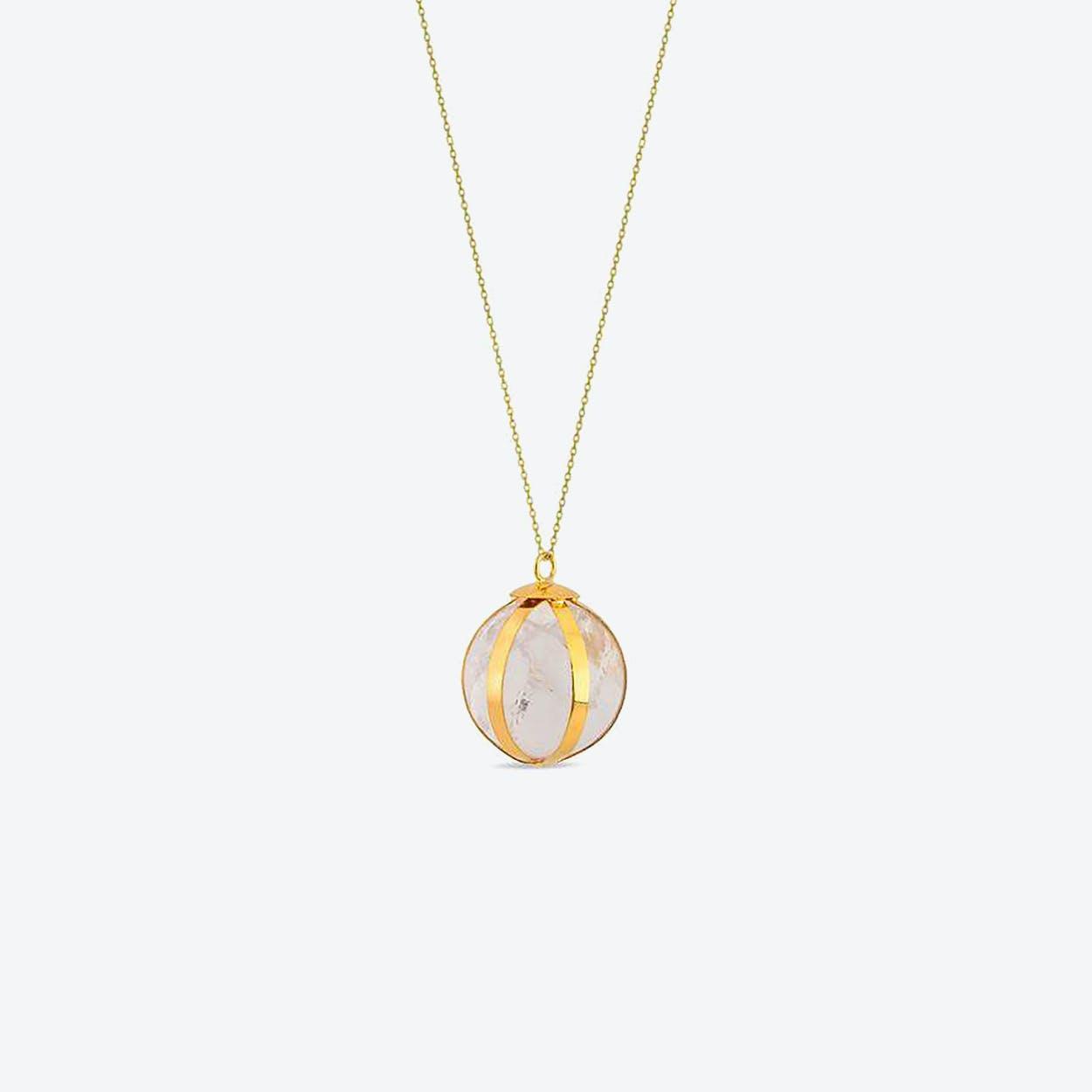 Quartz Ball Necklace