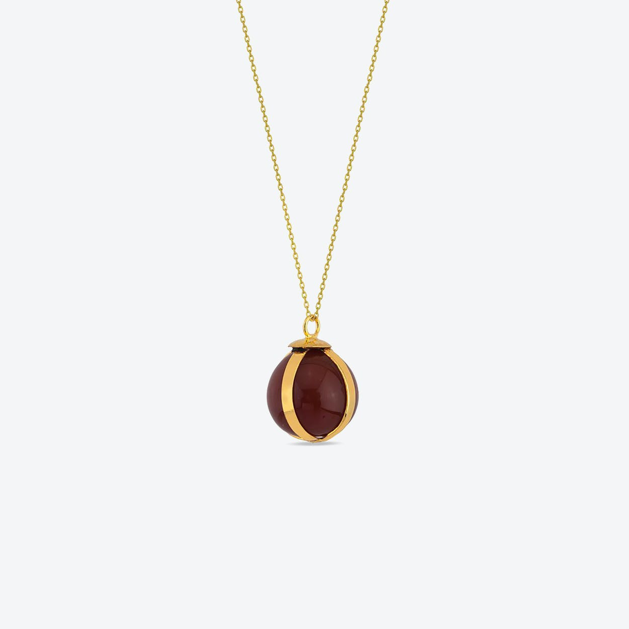 Agate Ball Necklace