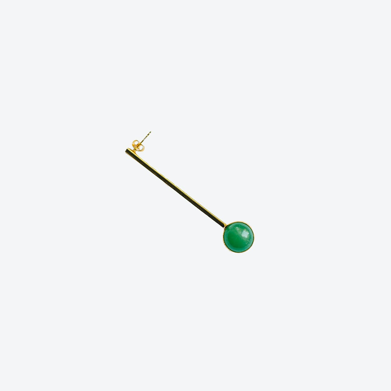 Long Aventurine Earring