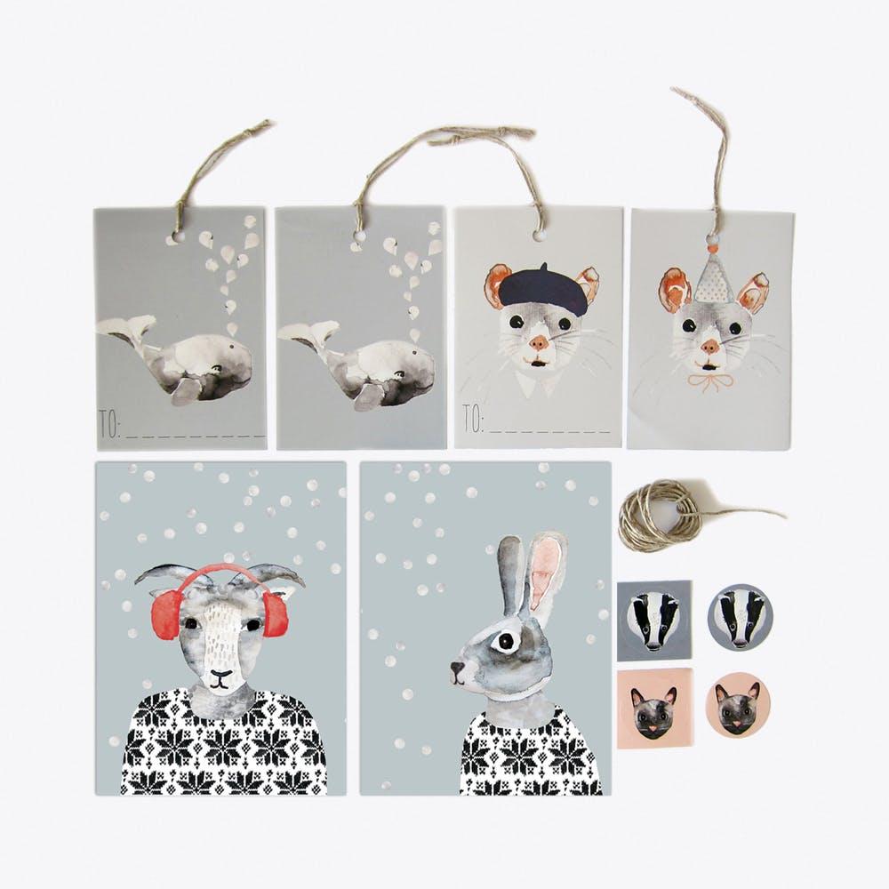 Animals Stationary Set (22 pieces)