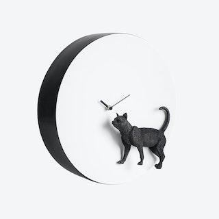 Moon Clock- Cat