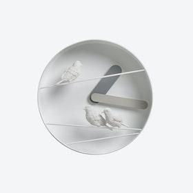 Sparrow X Round Clock - Dark Gray/Gray