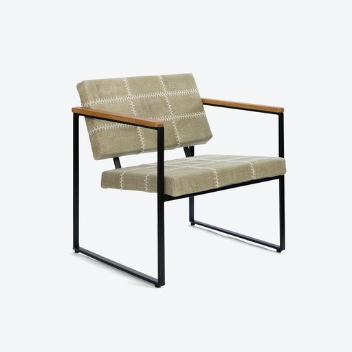 Navaho Khaki-Green Stone-Wash Chair